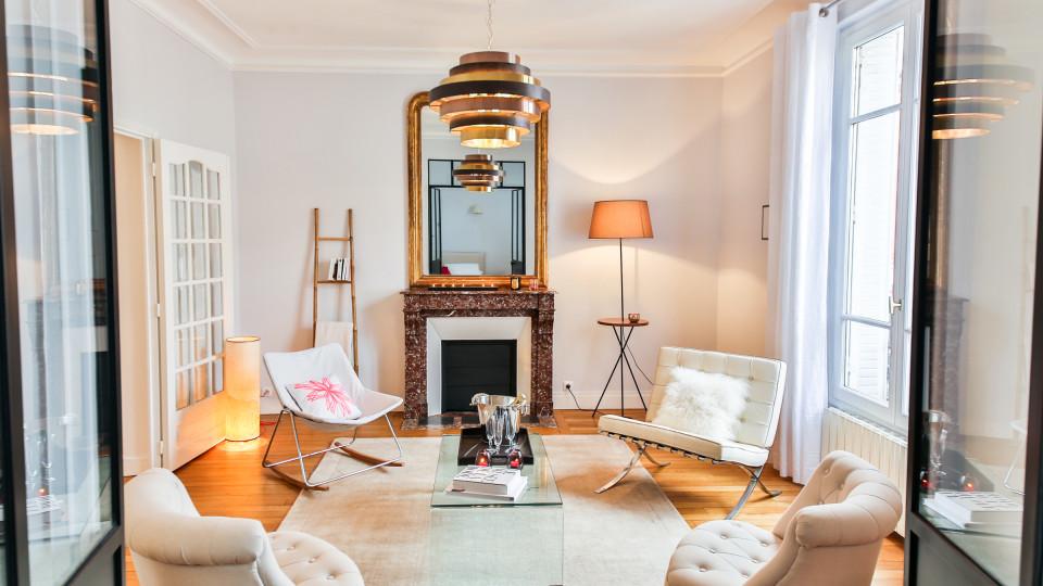 Salon Boudoir dans l'Ouest Parisien par Laurence Garrisson